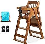 LAZ Silla apilable de madera de alta bebé comedor silla de alimentación comercial Inicio silla de alimentación (Color : C)