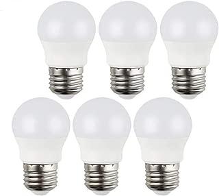 GALYGG LED Light Bulbs 25 Watt Equivalent, Daylight 5000K 270LM A15 3W LED Bulb E26 Medium Screw Base, CRI 90+ Non Dimmable, for Home Lighting Decorative - 6 Pack