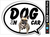 SK-406 DOG IN CAR12 フレンチ・ブルドッグ ドッグインカー ステッカー 愛犬家の方に!