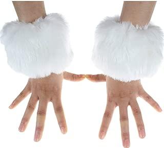 Ecosco Faux Fur Wrist Cuffs Warmer Cover Furry Leg Warmer Costume Set