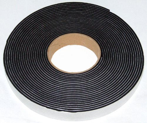 Neoprene sponge rubber self adhesive strip 20mm wide x 3mm thick x 10m long - weather, noise seal by Camthorne