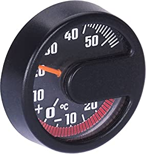 Indoor Thermometer Round Black