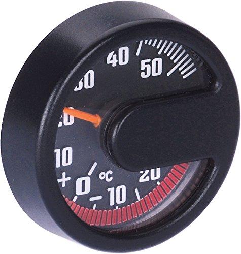 hr-imotion Thermometer für Innen und Aussen Made in Germany (10110001 SCHWARZ-Thermometer 44x13mm)