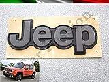 Scritta Stemma Logo Jeep Renegade Posteriore Originale Nero Opaco Front Badge Emblem