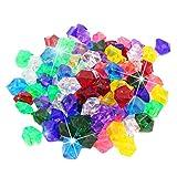 poetryer Gemas De Plastico Piedras De Colores Niños Joyas Acrílico Ideal para Juguetes para Niños, Vistas A La Piscina, Decoración del Hogar