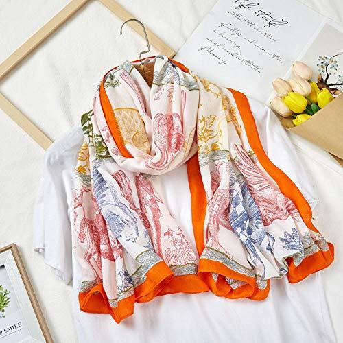 Charm4you Damen Schal Frauen Tücher Mädchen,Kette Neuer Warmer Schal für Herbst und Winter 180 * 90cm-Schal 09,Dicker Winter-Schal mit