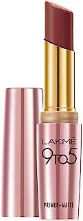 Lakme 9 to 5 Primer + Matte Lip Color, Sangria Weekend, 3.6 gm