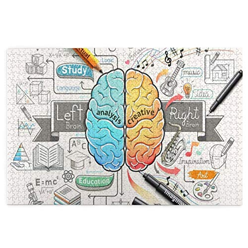 Education Human Brain Diagram Psychology Creative Jigsaw Puzzles for Adults 1000 Puzzles for Adults 1000 Pieces Puzzle 1000 Pieces