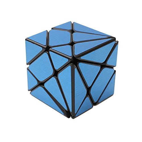 Wings of Wind - Irregular Cubo mágico 3x3, Cepillado Etiqueta Cubo de Velocidad YongJun cambiante y más desafiante Puzzle Cube (Azul)