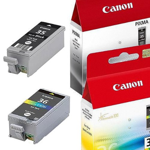 Multipack von Canon für Pixma IP 100 V ( 2x Patronen, Color + Black) IP100V Druckerpatronen, 1x BK: 9,3 ml & 1x Col: 13 ml