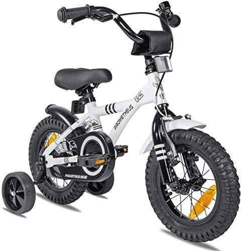 con soporte de rueda trasera Bicicleta infantil 14 pulgadas universal para ni/ños y ni/ñas color blanco Wangkangyi