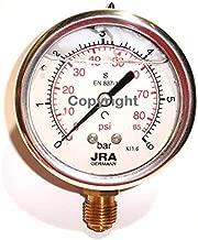 jra de Longlife de pastilla de man/ómetro 0/ /400/bar//PSI ng63/Conector inferior G1//4/