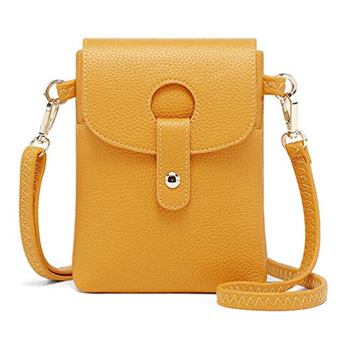 Fanshu Bolsa para teléfono celular, cartera para teléfono celular, bolso de mano, bolso con correa para el hombro, bolsa ligera para teléfono celular para mujeres y niñas