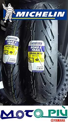 Par de neumáticos Michelin Road 5 Trail 2CT 120/70-19 60W 170/60-17 72W Dot...