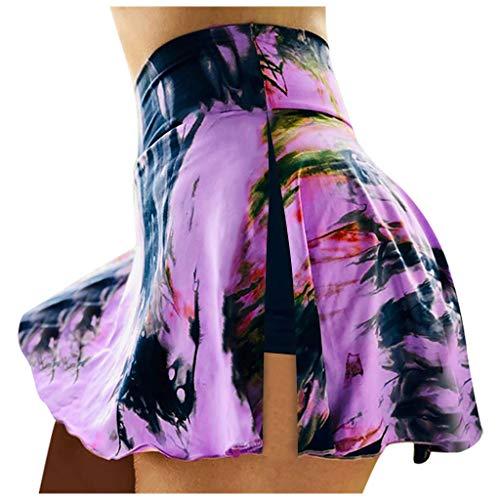 NUSGEAR 2021 Nuevo Mujer Leggings Pantalones Corto, Elásticos Mallas Tie-Dye Alta Cintura Pantalones Corto Moda Fitness Gym Yoga Slim Fit Pant Deportivos Running Jogging Cómodo Pantalon