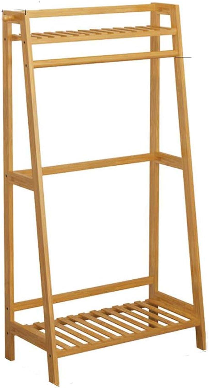 Hai Yan Boutique Drying Rack Wooden Coat Rack,Hanger Landing Coat Rack Bedroom Shelf Bamboo Clothes Rack 3 Sizes (color   70cm)
