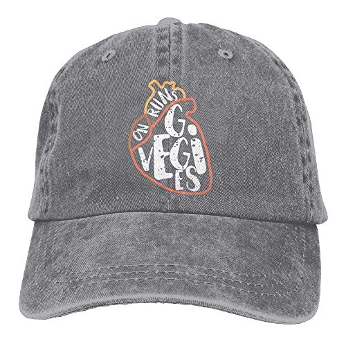 Hoswee Unisexo Gorras de béisbol/Sombrero, Runs On Veggies Denim Hat Adjustable Male Surf Baseball Hat