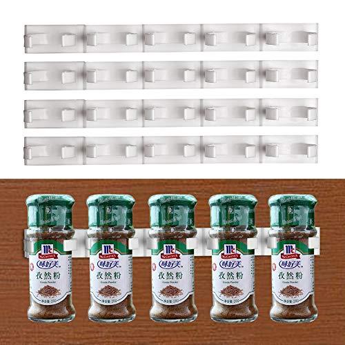 NNMNBV Store Organizador de cocina para el hogar, 2 unidades, 4 unidades, estante con clip para gabinete, estante para especias, soporte para condimentos, botellas, soporte de almacenamiento, 4 piezas