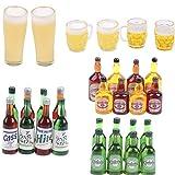 RUIYELE 30 botellas de cerveza en miniatura para casa de muñecas 1:12, casa de muñecas, botellas de vino en miniatura, decoraciones para casa de muñecas, cocina, accesorios de alimentos