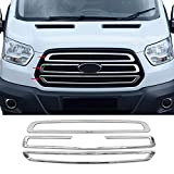 Stainless Steel Chrome Front Bumper Grille Cover forFord Transit 2014-2019