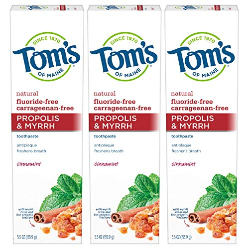 Tom's of Maine Fluoride-free Propolis-myrrh Cinnamint Toothpaste