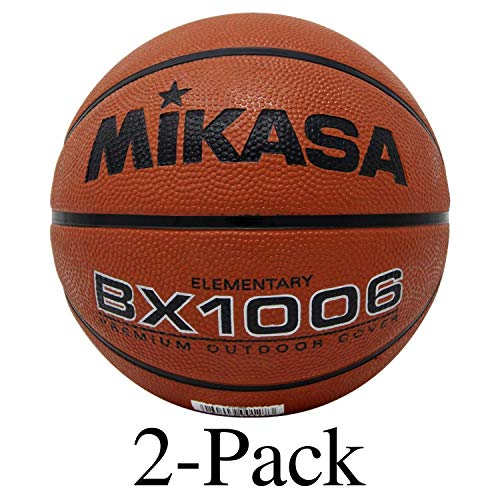 Lowest Price! Mikasa Youth Basketball Ball Ultra Grip Rubber Cover Size 4 Elementary (2-Pack)