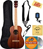 Kala MK-T Makala Tenor Ukulele Bundle with Gig Bag, Tuner, Strap, Aquila Strings, Online Lessons, Austin Bazaar Instructional DVD, and Polishing Cloth