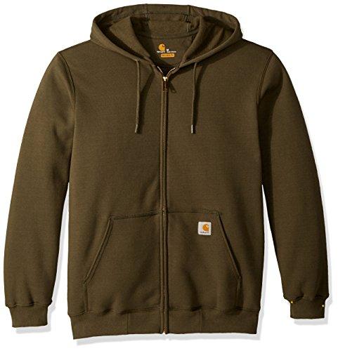Carhartt Men's Midweight Hooded Zip-front Sweatshirt, Moss, Large