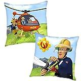 Sam il Pompiere Elicottero | Cuscino Decorativi 40 x 40 cm Bambini