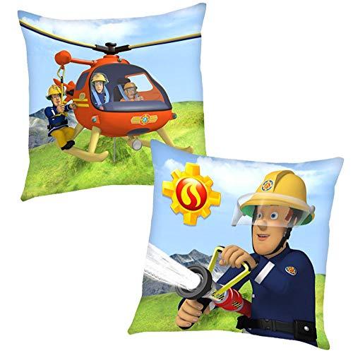 Feuerwehrmann Sam Helikopter 40 x 40 cm | Kinder Kissen | Dekokissen