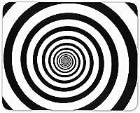 10 X 12インチマウスパッド、錯覚ブラックホワイトスワールマウスマットパッド-楽しいアートギフトコンピューター
