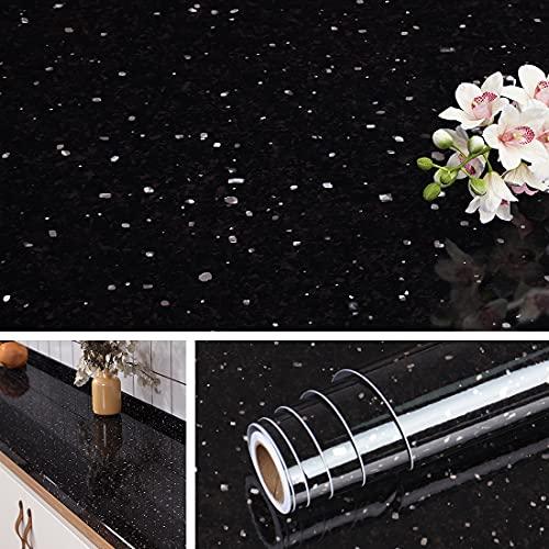 Livelynine Galaxy Black Granite Contact Paper For Countertops Waterproof Granite...