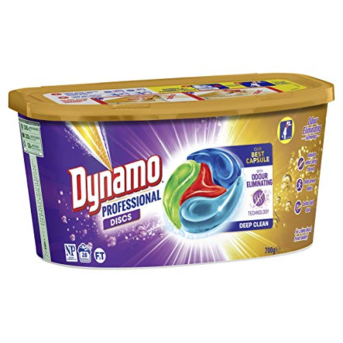 Dynamo Professional With Odour Eliminating Technology, Disc Laundry Detergent, 28 capsules, 700 grams