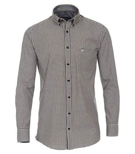Casa Moda - Comfort Fit - Herren Freizeit Hemd mit Button down Kragen (403556200), Größe:XXL, Farbe:Anthrazit (750)