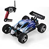 s-idee® 18105 A959 RC Auto Buggy Monstertruck 1:18 mit 2,4 GHz 50 km/h schnell, wendig, voll digital proportional 4x4 Allrad WL Toys ferngesteuertes Buggy Racing Auto