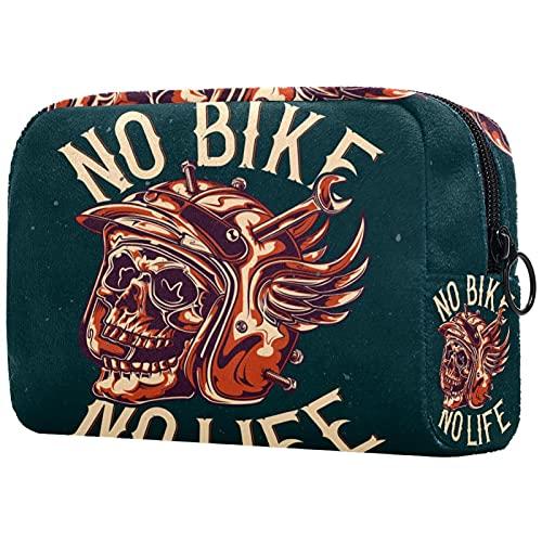 Neceser De Viaje Cráneo De Bicicleta Organizador Portátil Profesional Maquillaje Cosmético Bolsa Organizador Cajas De Maquillaje 18.5X7.5X13Cm