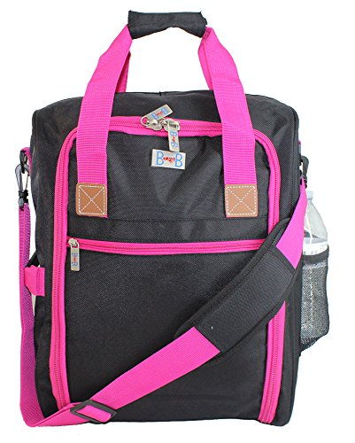 17' Personal Item under seat duffel for the airlines of American, Frontier, Spirit, (Pink) 3-Day-Fedex