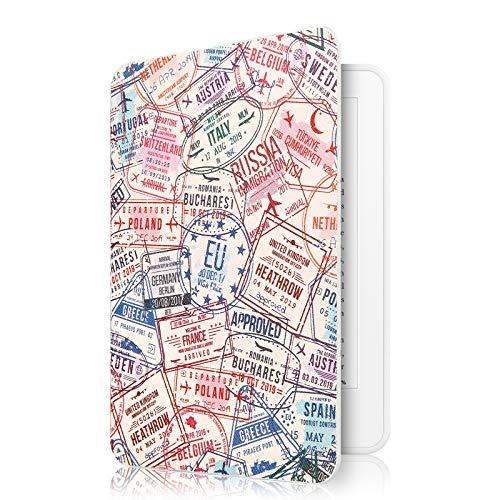 Capa Kindle Paperwhite à Prova D'água WB - Ultra Leve Auto Hibernação Sensor Magnético Silicone Flexível Passport