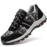 HOAPL Hombres Zapatos de Trabajo Respirables Desodorante de Acero del Dedo del pie Zapatos Anti-Sensacional Anti-Piercing Ligera Trabajo Industrial y la Seguridad de construcción Zapatos,42