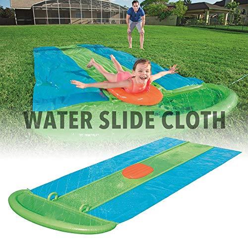 Riesige Wasserrutsche für erwachsene Kinder für den Garten, große und lange Wasserrutschenmatte für drei Personen Aufblasbare Sommer Spielzeugrutsche und Rutschmatte für Jungen Mädchen 5,49x2,08 m