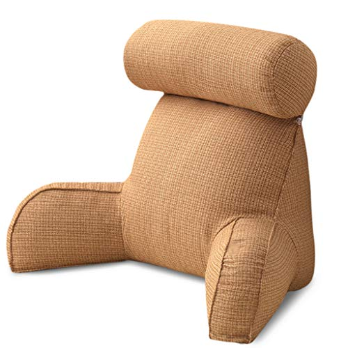 A FEI Free Neck Husband Pillows Soft Bed Rest Reading Pillows with Arm Rest and Neck Roll Pillow for Reading on The Bed Sofa