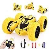 Peradix Coche Teledirigido 2.4 GHz Coches Stunt RC Juguetes Racing Car Volteo de 360 Grados Coche para niños,Stunt Car,Regalo Coche Teledirigido Recargable para Niños