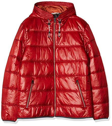 Calamar Herren Light-Weight-Steppjacke mit Rib Stop Optik Jacke, Rot (Red 52), X-Large (Herstellergröße: XL)