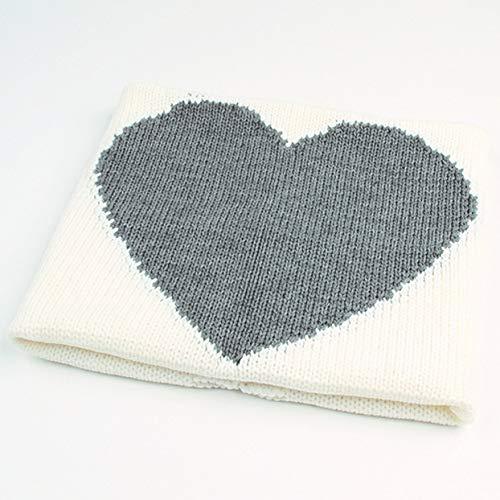Tellaboull Baby Romantische Herz Muster Swaddle Wrap Decke Infant Mädchen Jungen Stricken Häkeln Winter Pullover Schlafsack