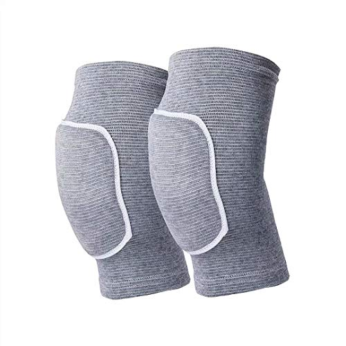 Non-Slip Knee Brace Soft Knee Pads Breathable Knee Compression Sleeve for Dance Wrestling Volleyball Basketball Running Football Jogging Cycling Arthritis Relief Meniscus Tear for Women Men Gray(L)