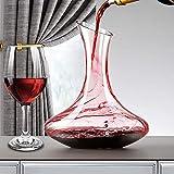 Almagic Decantador de vino rojo con 2 copas, juego de 3