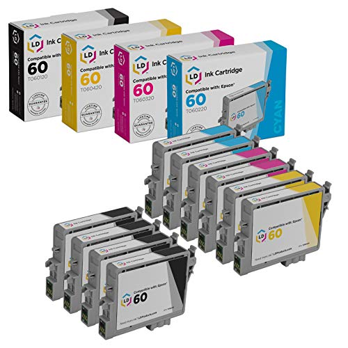 LD Remanufactured Ink Cartridge Replacement for Epson 60 T060 (4 Black, 2 Cyan, 2 Magenta, 2 Yellow, 10-Pack) Arkansas