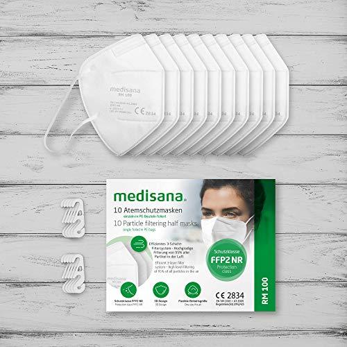 Medisana RM 100 FFP2/KN 95 Atemschutzmaske Staubmaske Atemmaske 3-lagige Staubschutzmaske Mundschutzmaske 10 Stück einzelverpackt im PE-Beutel - 7