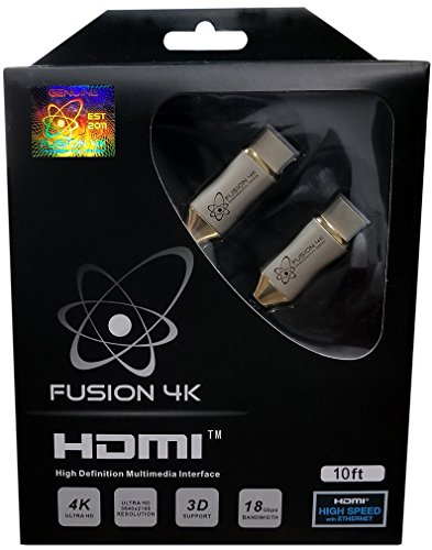 Fusion4K High Speed 4K HDMI Cable (4K @ 60Hz) - Professional Series (10 Feet)