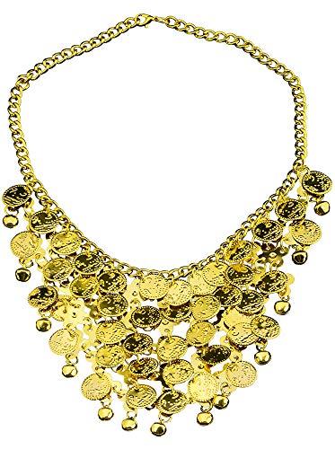 Sieraad voor buikdanseres Orient 1001 nacht kostuum - goud - keuze - tiara diadeem halsketting oorbellen accessoires Zigeunin Bollywood Inderin carnaval theater mottopfeest vrijgezellenfeest